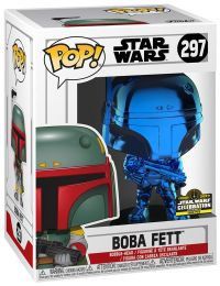 Figurine Funko Pop Star Wars : The Clone Wars #297 Boba Fett - Chromé Bleu