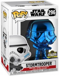 Figurine Funko Pop Star Wars : The Clone Wars #296 Stormtrooper - Chromé Bleu