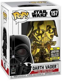 Figurine Funko Pop Star Wars : The Clone Wars #157 Dark Vador - Chromé Or