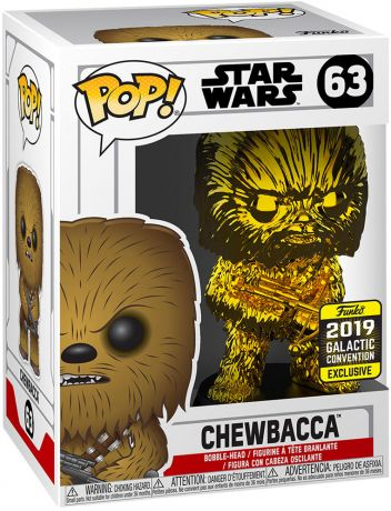 Figurine Funko Pop Star Wars : The Clone Wars #63 Chewbacca - Chromé Or