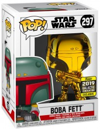 Figurine Funko Pop Star Wars : The Clone Wars #297 Boba Fett - Chromé Or