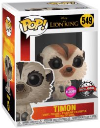 Figurine Funko Pop Le Roi Lion 2019 [Disney] #549 Timon - Floqué