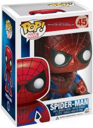 Figurine Funko Pop The Amazing Spider-Man [Marvel] #45 Spider-Man - Métallique