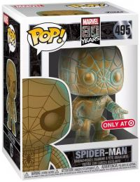 Figurine Funko Pop Marvel 80 ans #495 Spider-Man - Patine