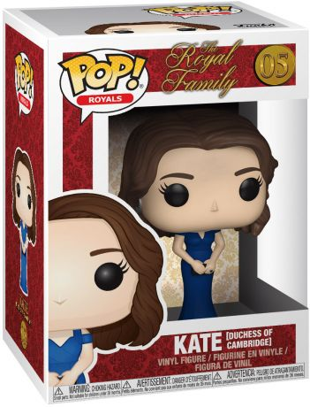 Figurine Funko Pop La Famille Royale #05 Duchesse de Cambridge Kate Middleton