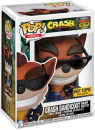 Figurine Funko Pop Crash Bandicoot #275 Crash Bandicoot en tenue de Motard