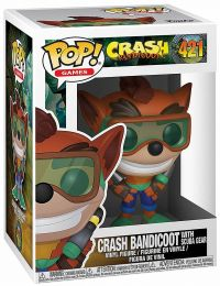 Figurine Funko Pop Crash Bandicoot #421 Crash Bandicoot avec équipement de plongée