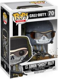 "Figurine Funko Pop Call of Duty #70 Lt Simon ""Ghost"" Riley - Eclaboussures de boue"