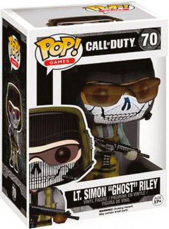 "Figurine Funko Pop Call of Duty #70 Lt Simon ""Ghost"" Riley"