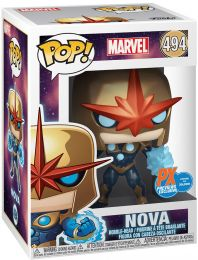 Figurine Funko Pop Marvel Comics #494 Nova - Métallique