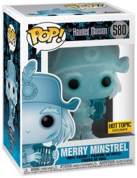 Figurine Funko Pop Haunted Mansion #580 Merry Minstrel - Homme à la harpe