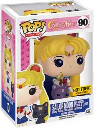 Figurine Funko Pop Sailor Moon #90 Sailor Moon avec Bâton de lune et Luna