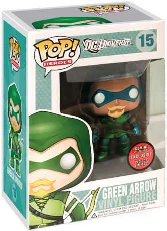 Figurine Funko Pop DC Universe #15 Green Arrow - Métallique