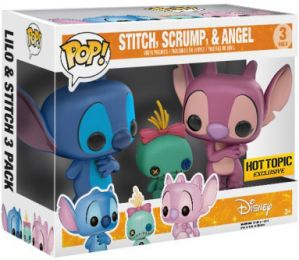Figurine Funko Pop Lilo et Stitch [Disney] #0 Stitch, Angel & Scrump - 3 pack