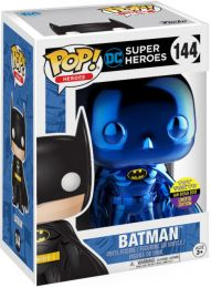 Figurine Funko Pop DC Super-Héros #144 Batman - Chromé Bleu