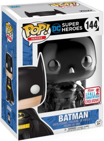 Figurine Funko Pop DC Super-Héros #144 Batman - Chromé Noir