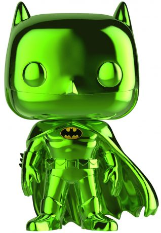 Figurine Funko Pop DC Super-Héros #144 Batman - Chromé Émeraude