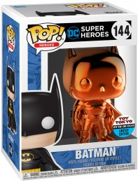 Figurine Funko Pop DC Super-Héros #144 Batman - Orange Métallisé