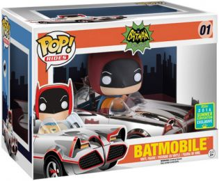 Figurine Funko Pop Batman Série TV [DC] #1 Batman avec Batmobile - Chrome