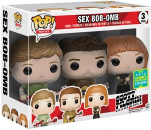 Figurine Funko Pop Scott Pilgrim #0 Sex Bob-Omb: Scott, Stephen & Kim - 3 pack