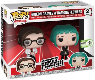 Figurine Funko Pop Scott Pilgrim #0 Gideon Graves & Ramona Flowers - 2 pack