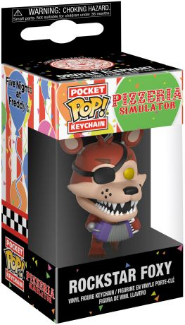 Figurine Funko Pop Five Nights at Freddy's #00 Foxy Rockstar - Porte-clés