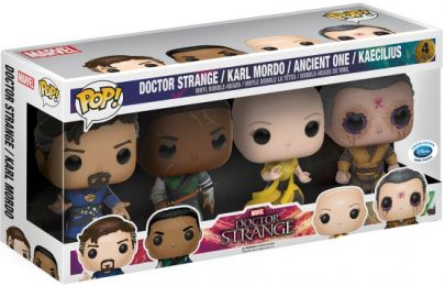 Figurine Funko Pop Doctor Strange [Marvel] #0 Dr Strange, Karl Mordo, l'Ancient & Kaecilius - 4 Pack