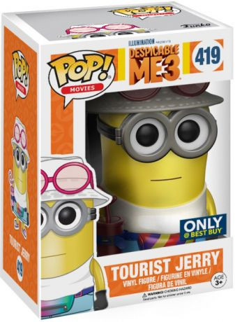 Figurine Funko Pop Moi, Moche et Méchant #419 Jerry le Touriste - Chromé