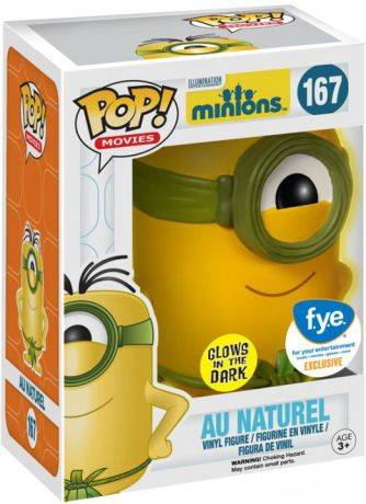 Figurine Funko Pop Les Minions #167 Minion Au Naturel - Brillant dans le Noir