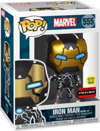Figurine Funko Pop Marvel Comics #555 Iron Man - Brillant dans le noir