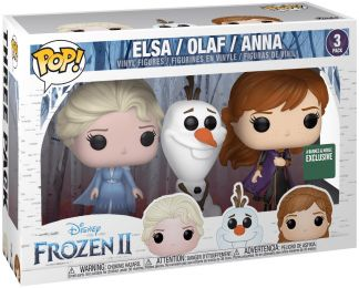 Figurine Funko Pop La Reine des Neiges II [Disney] #0 Elsa, Olaf & Anna - 3 pack