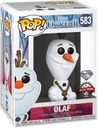 Figurine Funko Pop La Reine des Neiges II [Disney] #583 Olaf - Pailleté