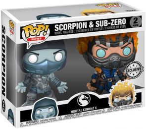 Figurine Funko Pop Mortal Kombat #0 Scorpion & Sub-zero - 2 pack