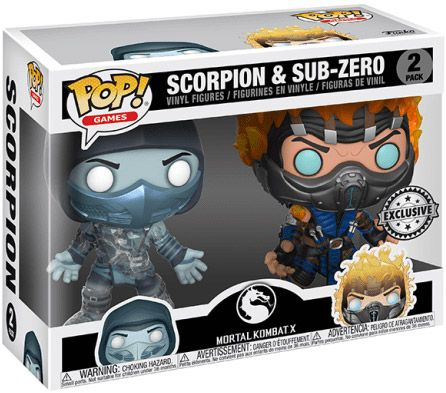 Figurine Funko Pop Mortal Kombat #00 Scorpion & Sub-zero - 2 pack