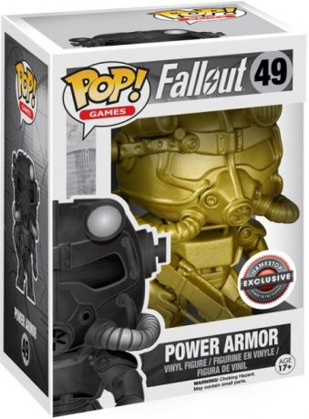 Figurine Funko Pop Fallout #49 Power Armor - Or [Chase]