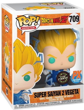 Figurine Funko Pop Dragon Ball #709 Super Saiyan 2 Vegeta - Brillant dans le noir [Chase]