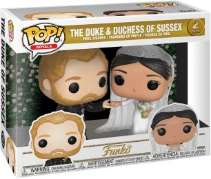 Figurine Funko Pop La Famille Royale #0 Le Duc et Duchesse de Sussex - 2 pack