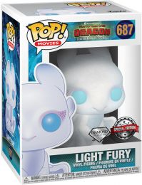 Figurine Funko Pop Dragons #687 Light Fury - Pailleté