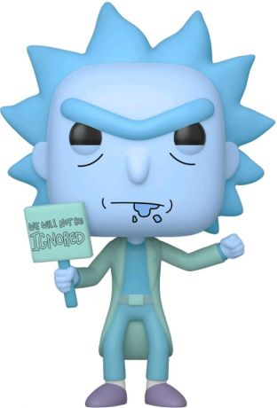 Figurine Funko Pop Rick et Morty #666 Hologram Rick Clone