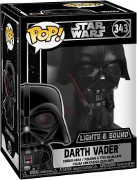 Figurine Funko Pop Star Wars 9 : l'Ascension de Skywalker #343 Dark Vador - Brillant dans le Noir & Sonore