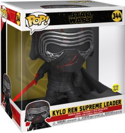 Figurine Funko Pop Star Wars 9 : L'Ascension de Skywalker #344 Kylo Ren Supreme Leader - Brillant dans le Noir & 25 cm