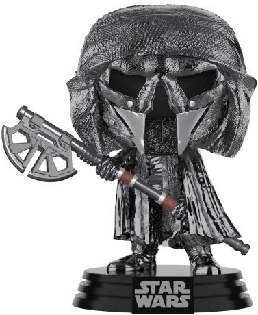 Figurine Funko Pop Star Wars 9 : l'Ascension de Skywalker #325 Chevalier de Ren (Axe) - Chromé Hématite