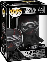 Figurine Funko Pop Star Wars 9 : L'Ascension de Skywalker #308 Kylo Ren Supreme Leader - Brillant dans le Noir & Sonore