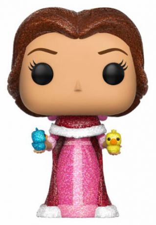 Figurine Funko Pop La Belle et la Bête [Disney] #241 Belle avec Oiseaux - Diamond Collection