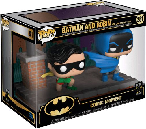 Figurine Funko Pop Batman [DC] #281 Batman et Robin (New Look Batman 1964)