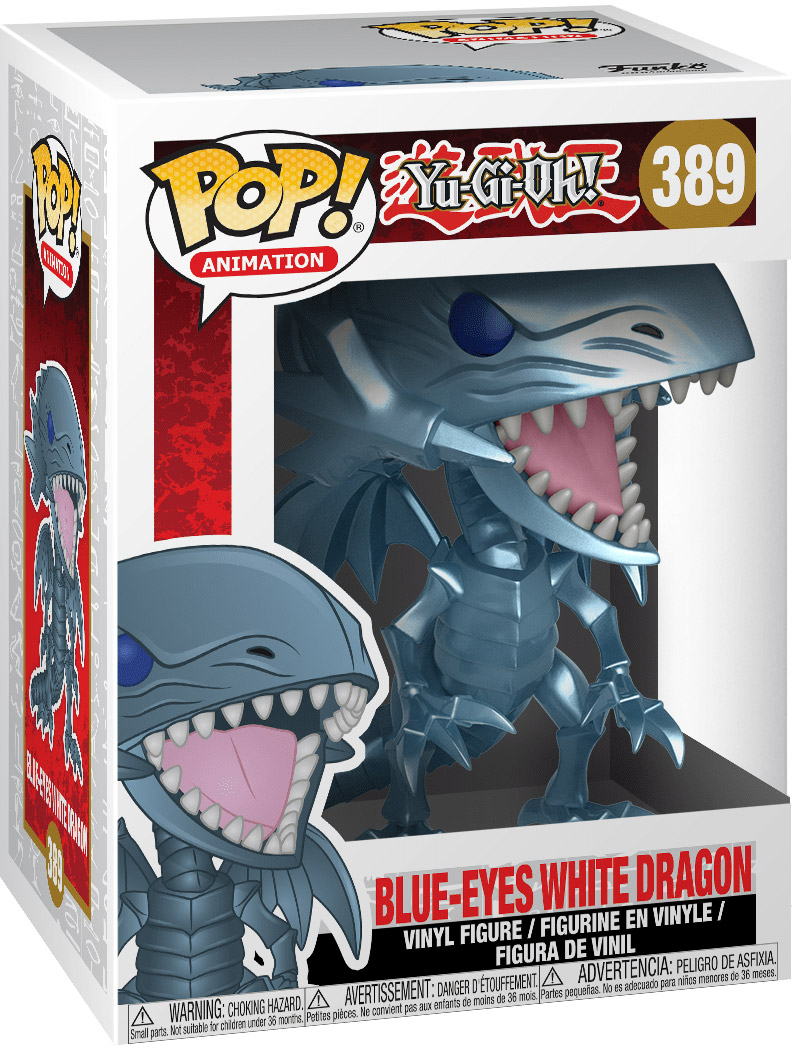 figurine dragon blanc aux yeux bleus