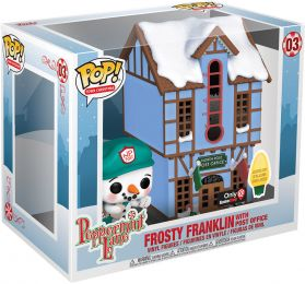 Figurine Funko Pop Peppermint Lane #3 Franklin Glacé avec Bureau de Poste