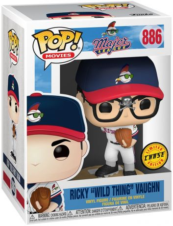 "Figurine Funko Pop MLB : Ligue Majeure de Baseball #886 Ricky ""Wild Thing"" Vaughn [Chase]"