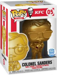 Figurine Funko Pop Icônes de Pub #5 Colonel Sanders - Or