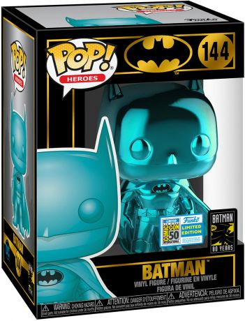 Figurine Funko Pop Batman [DC] #144 Batman - Chromé Bleu